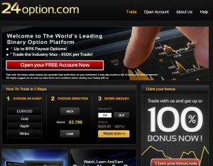 24option new wide trading platform