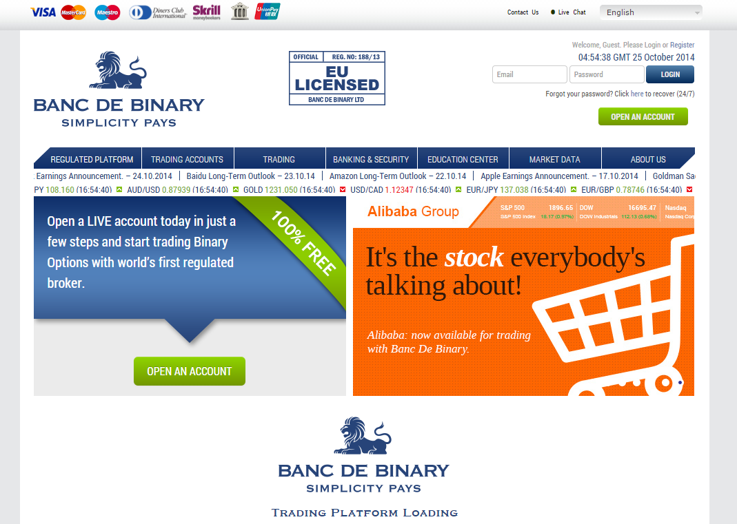 Reviews of bank de binary